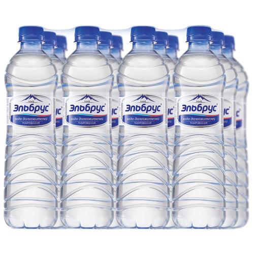 Вода минеральная Эльбрус газированная 12 штук по 0,5л