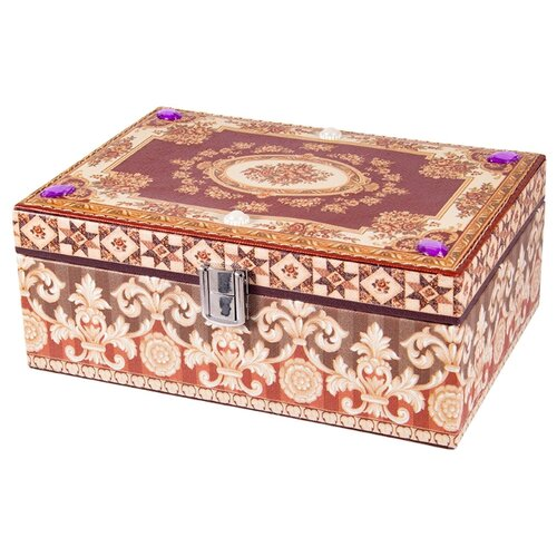 Русские подарки Шкатулка для ювелирных украшений 84335 коричневый