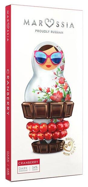 Шоколад MARSSIA темный 54% с клюквой, 100 г