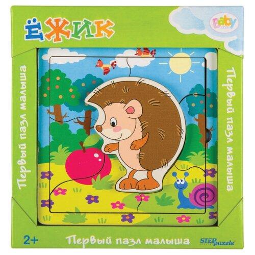 Рамка-вкладыш Step puzzle Baby Step Ёжик (89074), деталей: 7Пазлы<br>