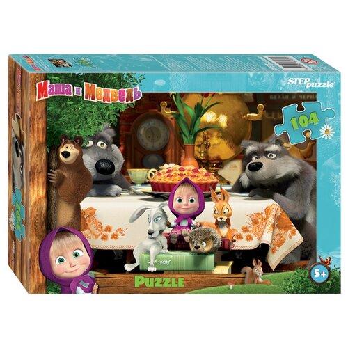 Купить Пазл Step puzzle Анимаккорд Маша и Медведь - 2 (82181), 104 дет., Пазлы