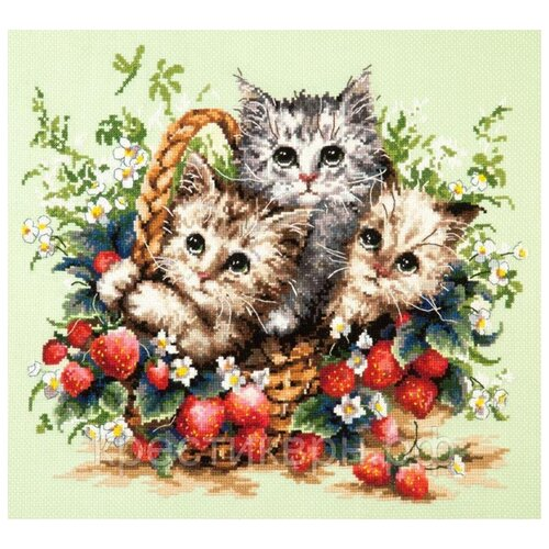 Чудесная Игла Набор для вышивания Милые созданья 35 х 31 см (58-12) набор для вышивания крестом чудесная игла утопаю в любви 13 х 12 см