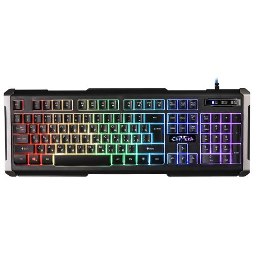 Клавиатура Defender Chimera GK-280DL RU RGB Black USB клавиатура defender stalker gk 170l