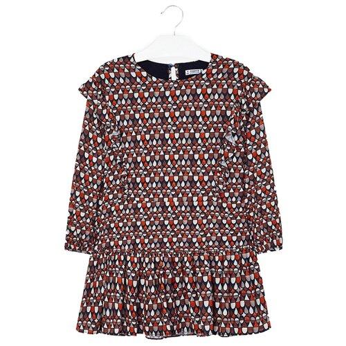 Купить Платье Mayoral размер 128, оранжевый, Платья и сарафаны