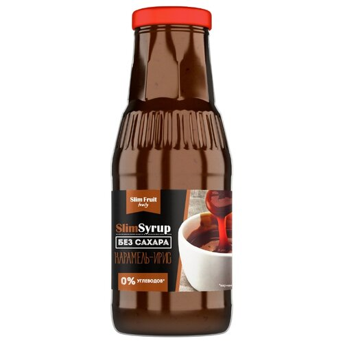 Сироп Slim Fruit Family низкокалорийный SlimSyrup Карамель-ирис 0.31 л vedrenne карамель сироп 0 7 л