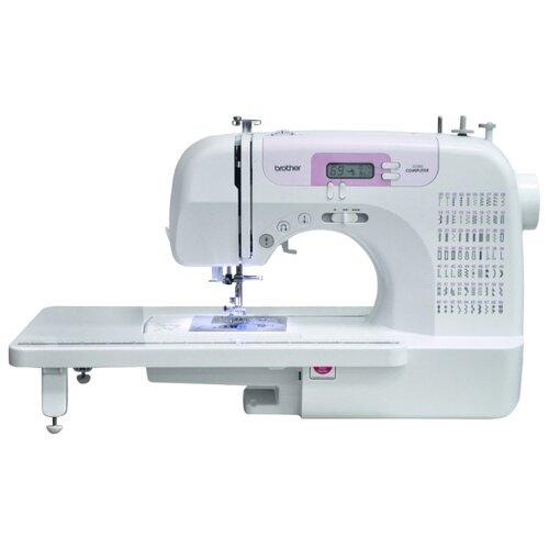 Швейная машина Brother JS-100, белый/розовый швейная машина brother x 4 белый
