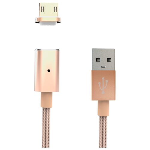 цена на Кабель INTERSTEP USB - microUSB (IS-DC-MGNTMICSG-000B201) 1 м золотистый