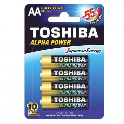 Фото - Батарейка Toshiba Alpha Power AA 4 шт блистер батарейка philips power alkaline aa 4 шт блистер