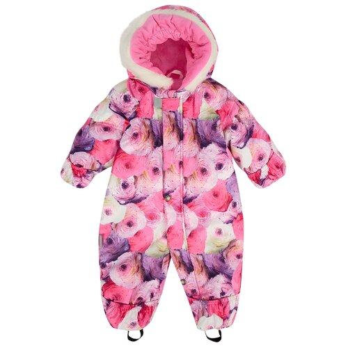 Купить Комбинезон KERRY ROSIE K18407 размер 68, 1799 фиолетовый/розовый/молочный, Теплые комбинезоны