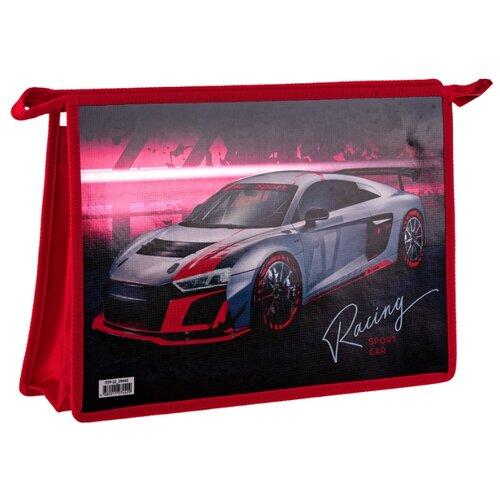 ArtSpace Папка для тетрадей Sport car А4, на молнии, пластик красный artspace папка для тетрадей car а4 на молнии пластик черный