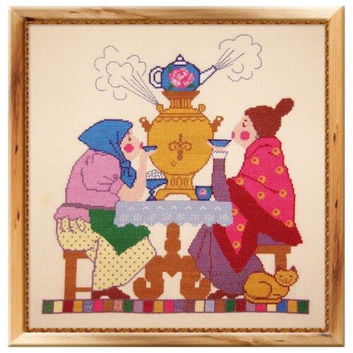 Купить Овен Цветной Вышивка крестом Чаепитие 33 х 35 см (231), Наборы для вышивания