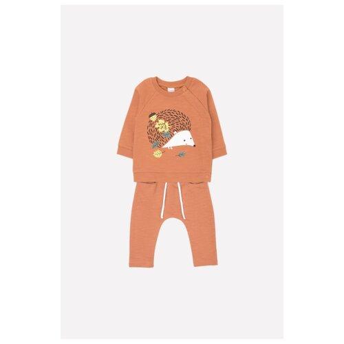Купить Комплект одежды crockid размер 74, светло-коричневый(желуди), Комплекты