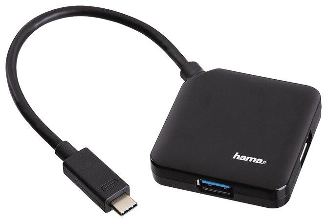 USB-концентратор HAMA Type-C Hub (00135750) разъемов: 4