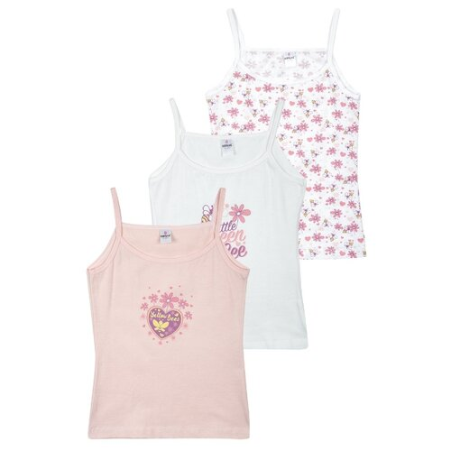 Купить Майка BAYKAR 3 шт., размер 158/164, белый/розовый/молочный, Белье и купальники