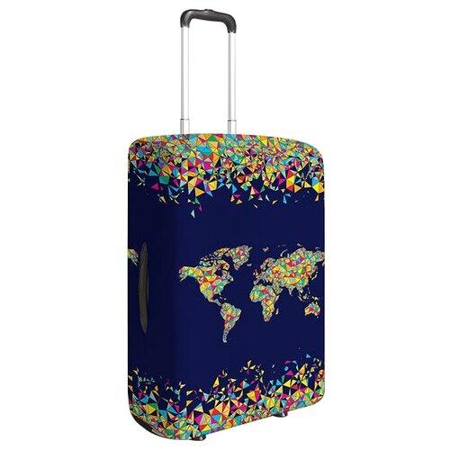 Чехол для чемодана JoyArty Витражная карта M, желтый, красныйЧемоданы<br>