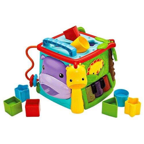 Купить Интерактивная развивающая игрушка Fisher-Price Обучающий игровой куб (GHT89) голубой/оранжевый/зеленый, Развивающие игрушки