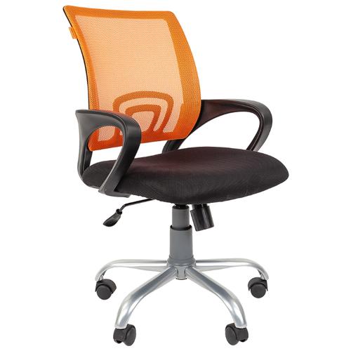 Компьютерное кресло Chairman 696 Silver, обивка: текстиль, цвет: черный TW-11/оранжевый