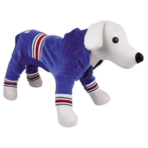 Костюм для собак DEZZIE спортивный 5615 163/173, 35 см синий