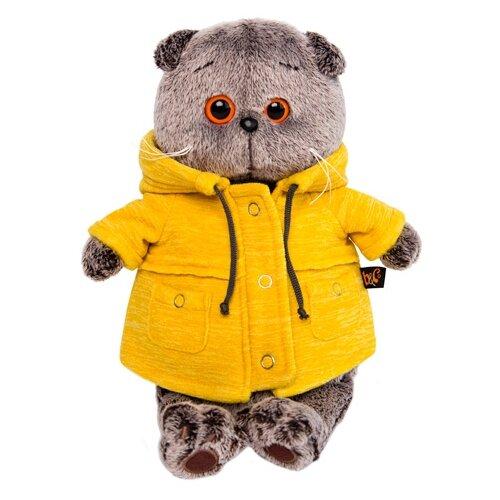Купить Мягкая игрушка Basik&Co Кот Басик в желтой куртке B&Co 25 см, Мягкие игрушки