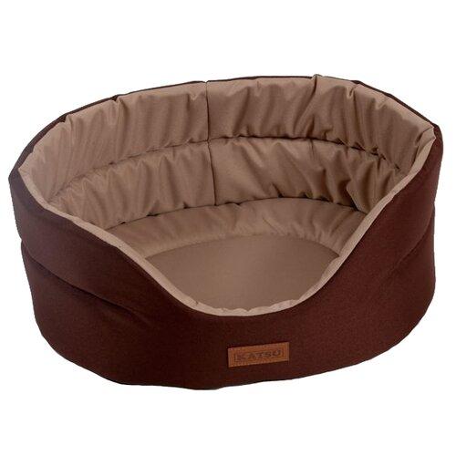 Лежак для собак и кошек Katsu Classic Shine XXL 70х62х25 см коричневый/бежевый лежак для кошек для собак зоо фортуна чай 2 м 271 80х50х8 см бежевый коричневый