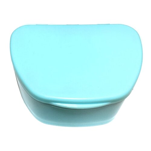 StaiNo Denture Box – Бокс пластиковый, 95*74*39 мм (бирюза)Полоскание и уход за полостью рта<br>
