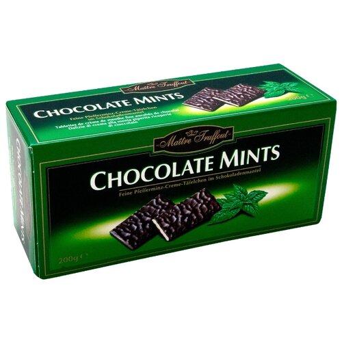Шоколад Maitre Truffout темный с мятной начинкой, порционный, 200 г недорого