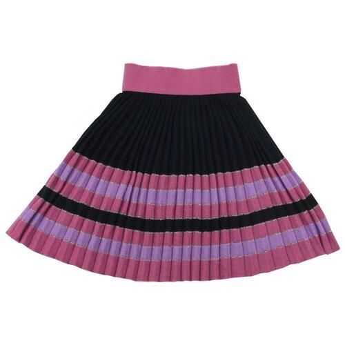 Юбка iBala размер 38 (110-116), темно-синий/розовый/сиреневый юбка oodji ultra цвет темно синий 14100019 1 43642 7900n размер xs 42