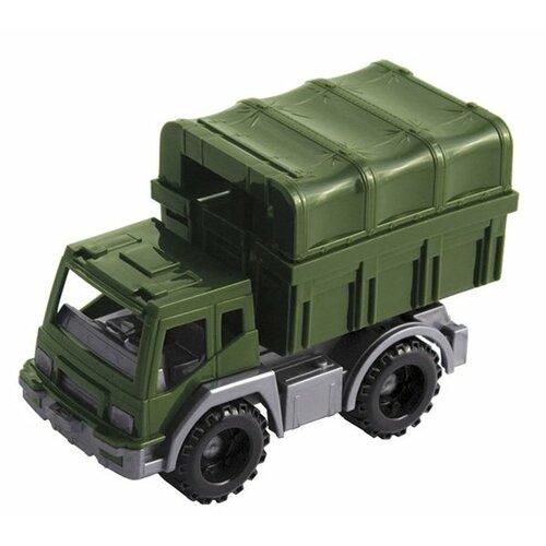 Фургон Нордпласт Конвой (266), 18 см, темно-зеленый