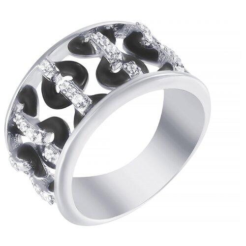 ELEMENT47 Кольцо из серебра 925 пробы с кубическим цирконием и эмалью KBT-005R-3_KO_ENAM_001_WG, размер 16.5- преимущества, отзывы, как заказать товар за 3484 руб. Бренд ELEMENT47