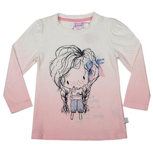 Купить Лонгслив Sweet Berry размер 80, белый/розовый, Футболки и рубашки