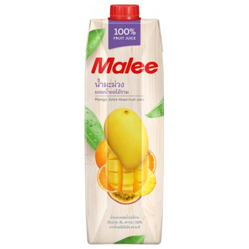 Сок Malee Манго-Фруктовый микс, без сахара, 1 л malee напиток кокосовое молоко 0 33 л