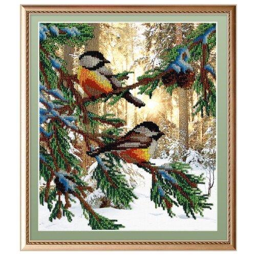 М.П.Студия Набор для вышивания бисером Птички в лесу 23 x 28 см (бг-233)