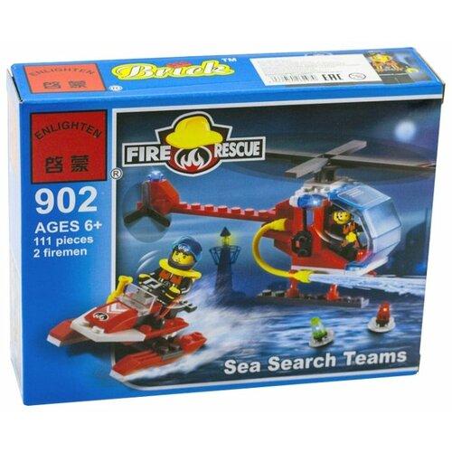 Купить Конструктор Qman Fire Rescue 902 Морские поисковые команды, Конструкторы