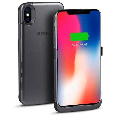Купить Чехол-аккумулятор INTERSTEP Metal battery case для iPhone X space gray