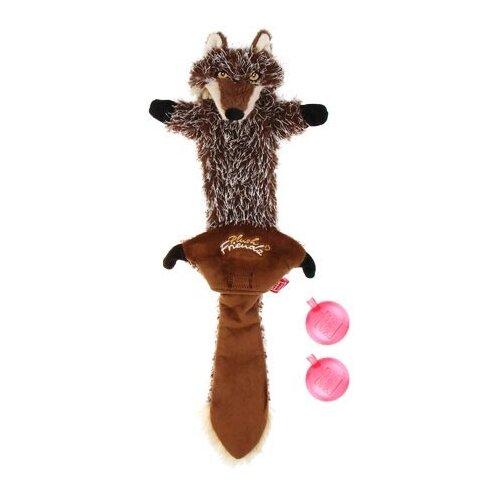 Игрушка для собак GiGwi Plush Friendz Волк (75325) коричневый
