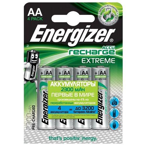 Фото - Аккумулятор Ni-Mh 2300 мА·ч Energizer Accu Recharge Extreme AA 4 шт блистер аккумулятор ni mh 2600 ма·ч varta recharge accu power 2600 aa 4 шт блистер