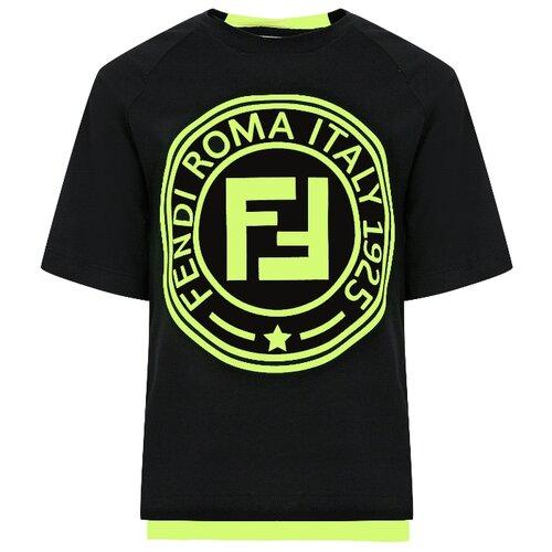 Футболка FENDI размер 140, черный футболка fendi размер 140 синий