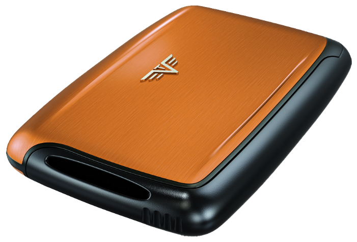 Визитница c защитой Tru Virtu Pearl, оранжевый , 104x67x17 мм (20.10.1.0001.15)