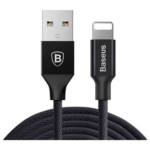 Фото - Кабель Baseus Yiven USB - Lightning (CALYW) 1.2 м, black кабель baseus yiven 2 1 usb microusb lightning camlyw 1 м черный золотистый