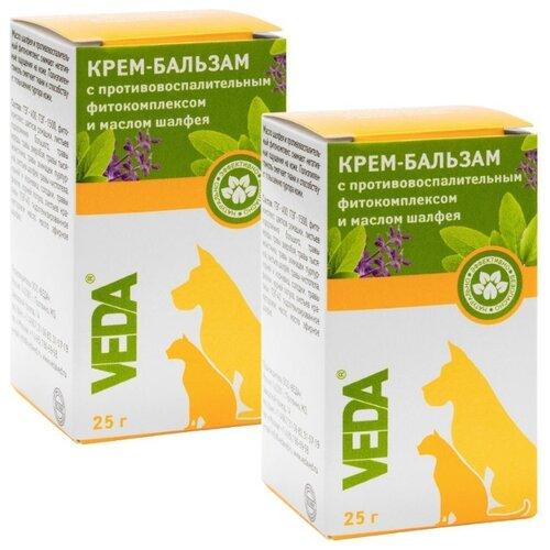 Крем-бальзам зоогигиеническое защитное средство с противовоспалительным фитокомплексом и маслом шалфея, 2 шт,VEDA