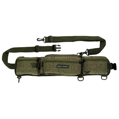Поясная сумка для охоты, для рыбалки SOLARIS S5403 65х7х13.5см серый хаки хамелеон