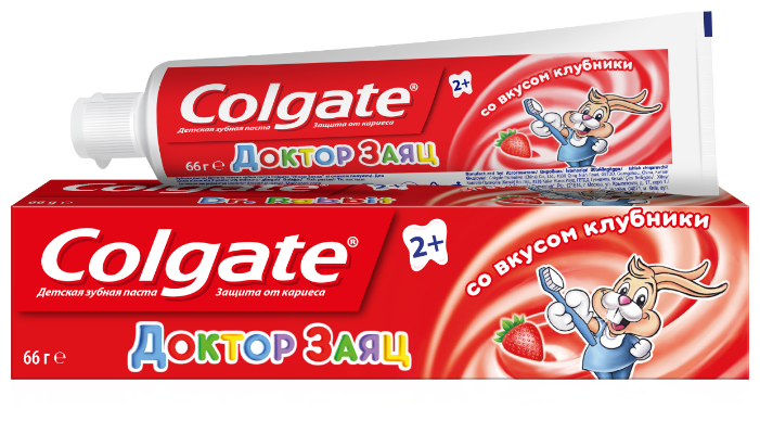 Зубная паста Colgate Доктор Заяц вкус Клубники
