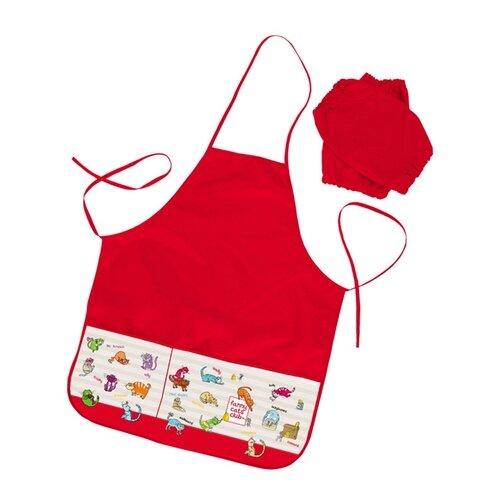 Купить Hatber фартук с нарукавниками Прикольные коты (NFn_26010) красный, Одежда для уроков труда