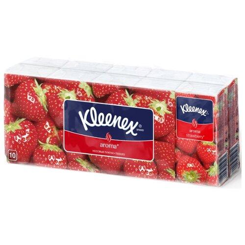 цена Платочки Kleenex Aroma Клубника 21 х 20 см, 100 шт. онлайн в 2017 году