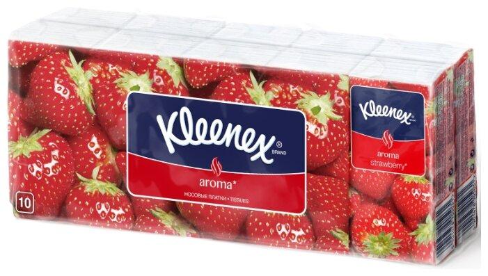 Платочки Kleenex Aroma Клубника 21 х 20 см