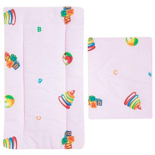 Купить Комплект для люльки Leader Kids Детские игрушки (матрас+подушка) розовый, Матрасы и наматрасники