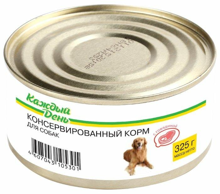 Корм для собак Каждый День Консервы для собак с говядиной (0.325 кг) 1 шт.