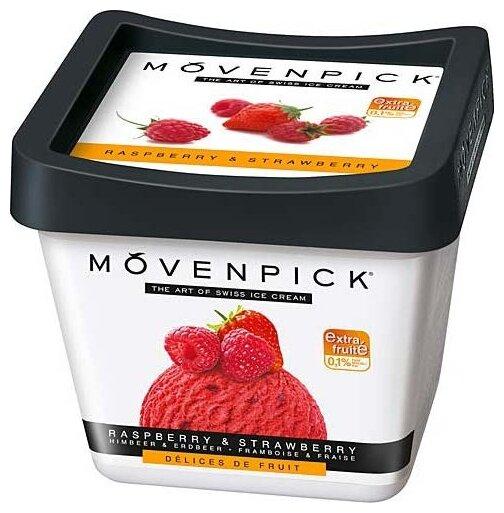 Мороженое Movenpick сорбет малиновый с кусочками клубники, 500мл