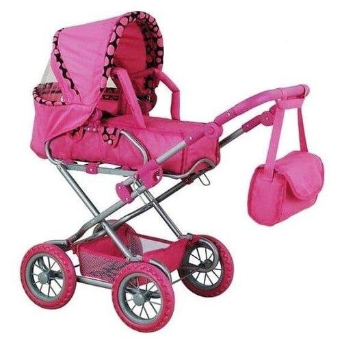 Купить Коляска-трансформер Buggy Boom Infinia (8459) малиновая/кант в горох, Коляски для кукол