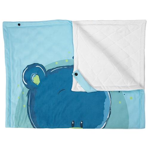 Купить Плед МиМиМи Мишки для мальчика 70х100 см белый/голубой, Покрывала, подушки, одеяла